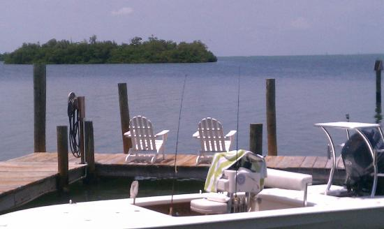 Cabbage Key Inn: View out from the yard