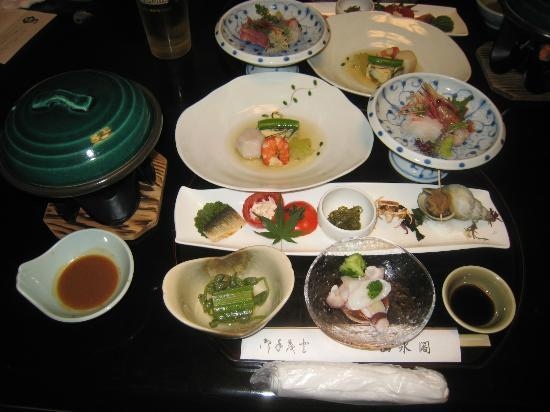 Osawa Onsen Sansuikaku: 夕食