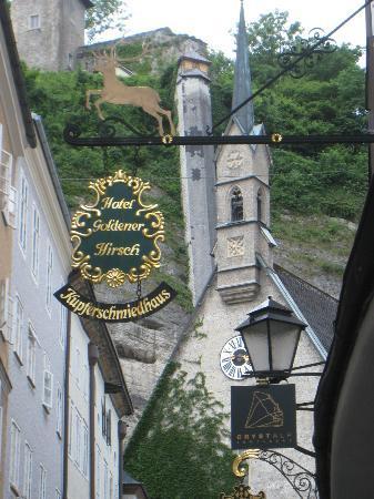 Hotel Goldener Hirsch, a Luxury Collection Hotel, Salzburg : Hotel sign