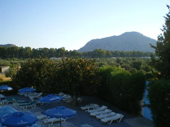 Loutanis Hotel: view from balcony north