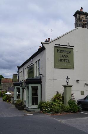 The Hopper Lane Hotel: View from the front car park looking westwards