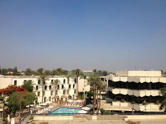 View from room on 4th floor at Novotel Cairo Airport Hotel