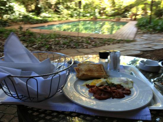 Breakfast served at the suite at Foxwood House