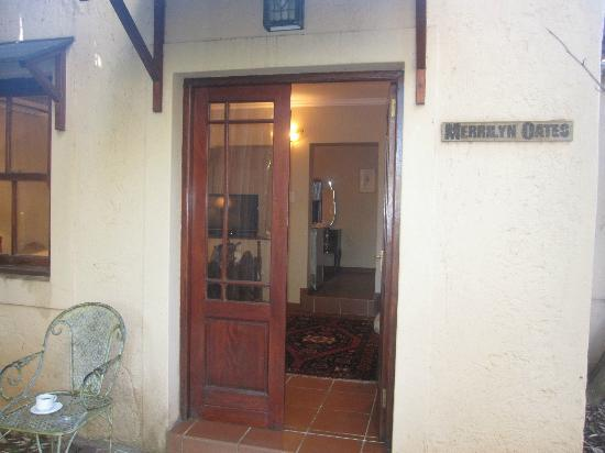 Entrance to the suite at Foxwood House in Johannesburg