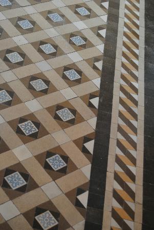 Hospederia Mirador de Llerena: Detalle del suelo de los pasillos