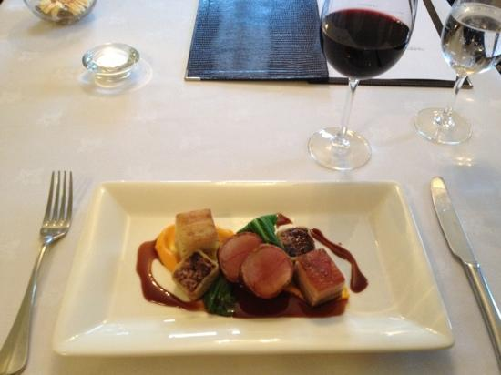 Blackaddie Country House Hotel: Culinary highlight - pork three ways...