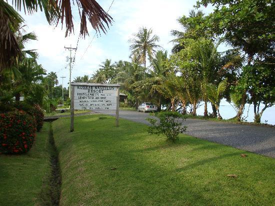 Kosrae Nautilus Resort: Willkommensschild