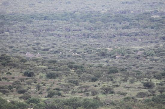 Severin Safari Camp: view of lodge from Poachers lookout