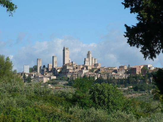 Agriturismo Guardastelle : View on San Gimignano from Guardastelle