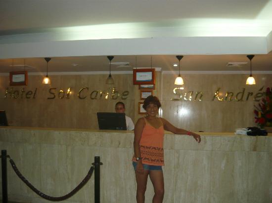 Sol Caribe San Andres : En la Recepciòn del Hotel