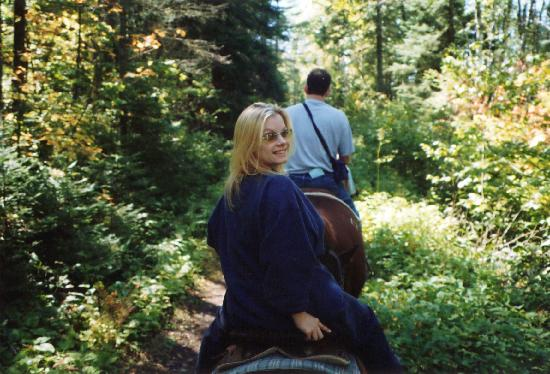 Caribou Highlands Lodge: mel loving the horseback riding