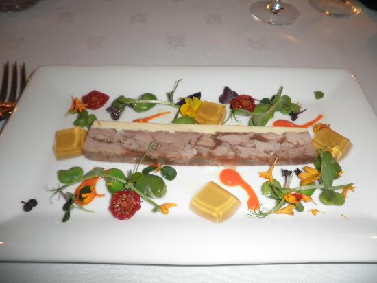 Blackaddie Country House Hotel: starter - beautifully decorated