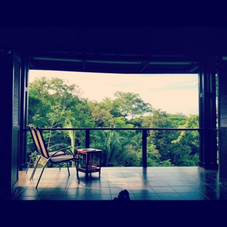 TikiVillas Rainforest Lodge & Spa : View from the bed!