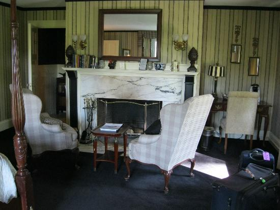 The Manor on Golden Pond: Fireplace