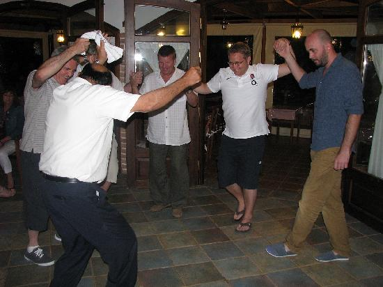 Andreas Hotel: Andreas leads the dancing