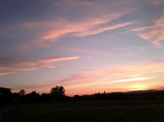 Borgo al Cerro: Sunset from our porch