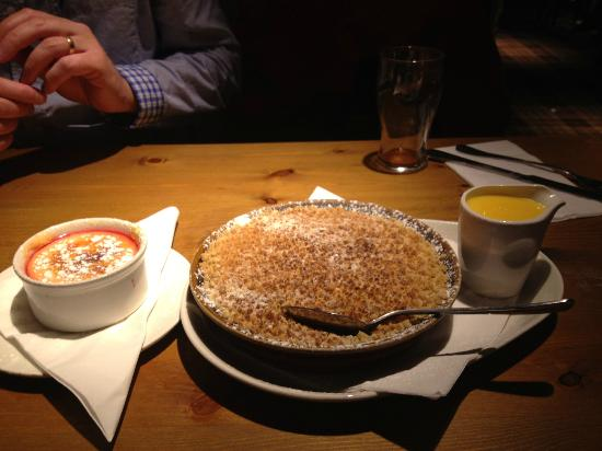 Thames Court: My dessert is the big one! Apple crumble w custard. Yummy!