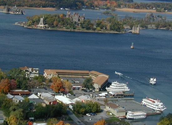Capt. Thomson's Resort: Downtown Alexandria Bay Over Looking Boldt Castle.