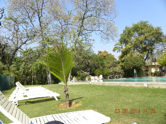 Narain Niwas Palace: pool grounds