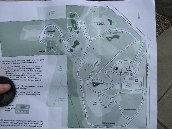 Kubota Garden: Map of gardens