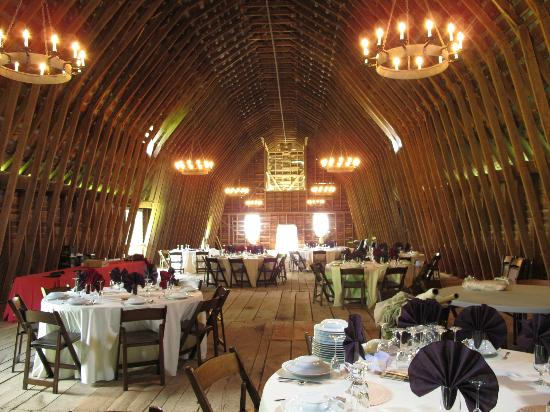 The Inn at Mount Vernon Farm: the barn--a lovely place to get married (there's a joke here somewhere)