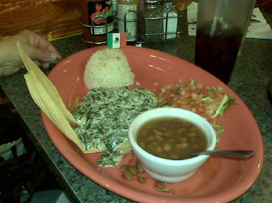 Casa Ramos: Tamales with rice and beans