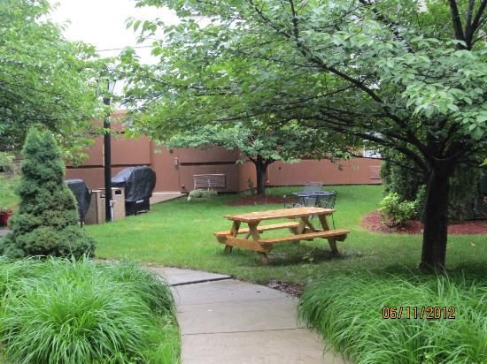 Candlewood Suites Philadelphia / Willow Grove : Picnic / bbq area behnd motel