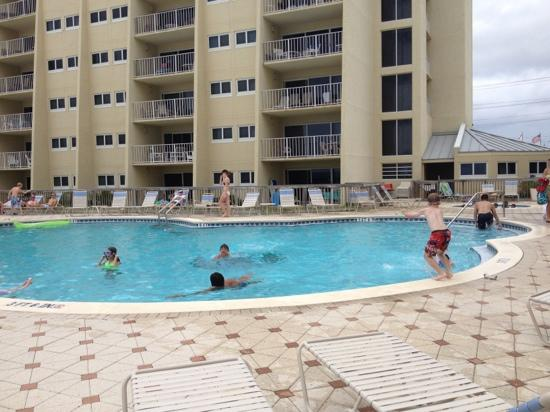 The Beach House Condominiums: pool, bldg C in background