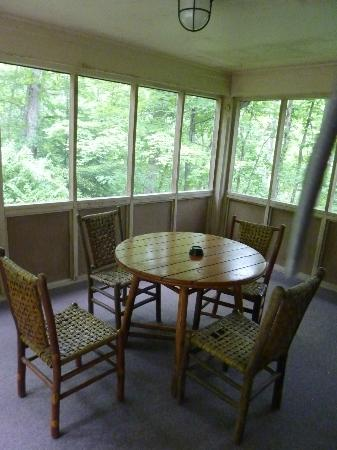 Natural Bridge State Resort Park: large covered screened porch to enjoy evenings