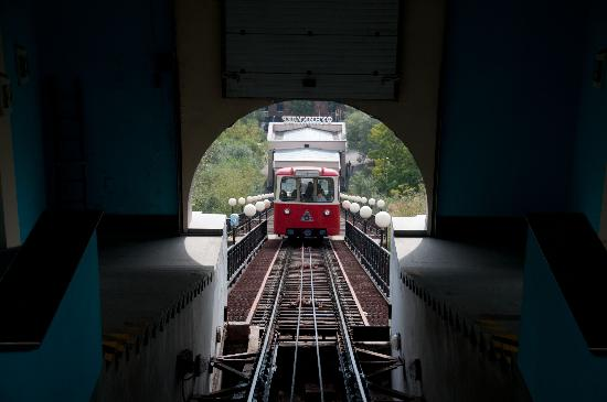 Funicular: View from the top of the hill