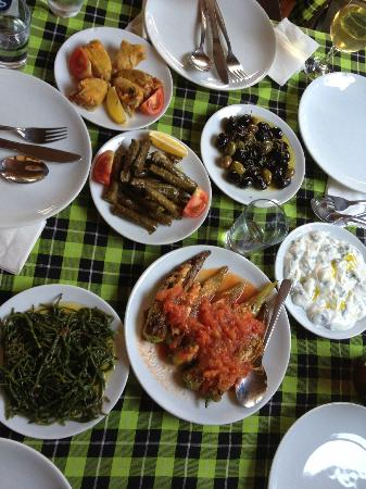 Samyeli Travel - Ephesus Tours from Kusadasi and ANZAC Day Tours: The first course at our lunch in Sirince