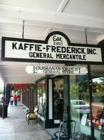 Natchitoches, LA: The Kaffie-Frederick store has been in this building since the 1890s.