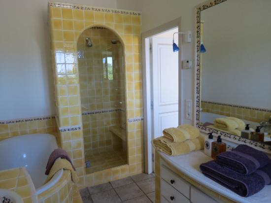 Le Mas del Sol: Pampre bathroom - two showers