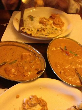 Tandoori Oven: Chicken Tikka Masala on Left
