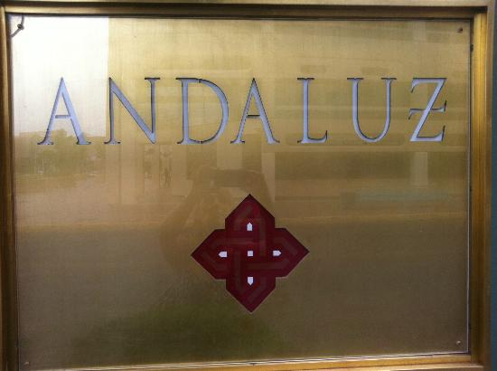Sign outside Hotel Andaluz
