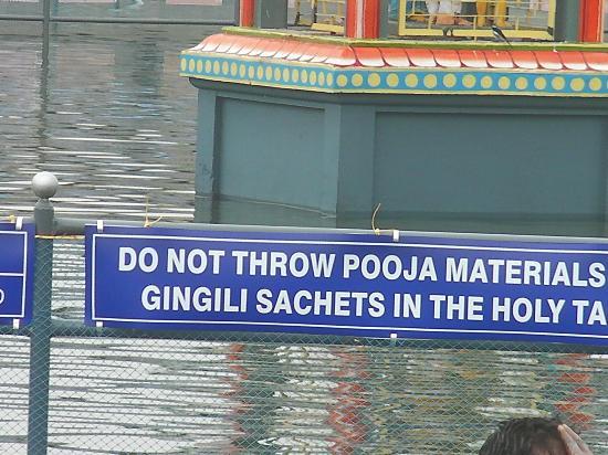Saniswaran Temple: The lake 