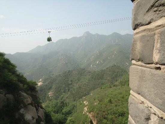 Yanqing Badaling Incomplete Great Wall: View of the Cable Car from The Great Wall