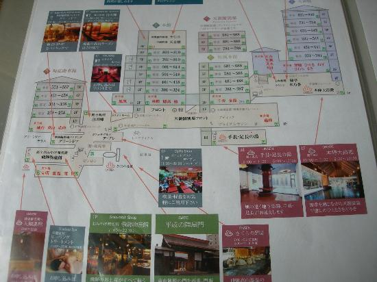 Takayama Green Hotel: ホテル案内図
