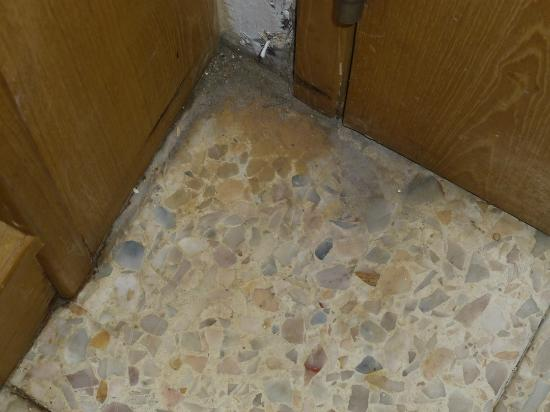 Lido Beach Hotel: Behind the front door to the room the dirt build up was about 5 mils thick