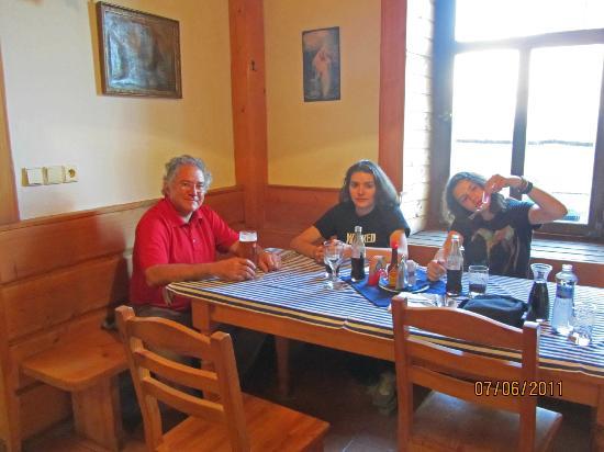 Having dinner at Hotel Kreta