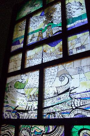 Palazzo Florio : la vetrata