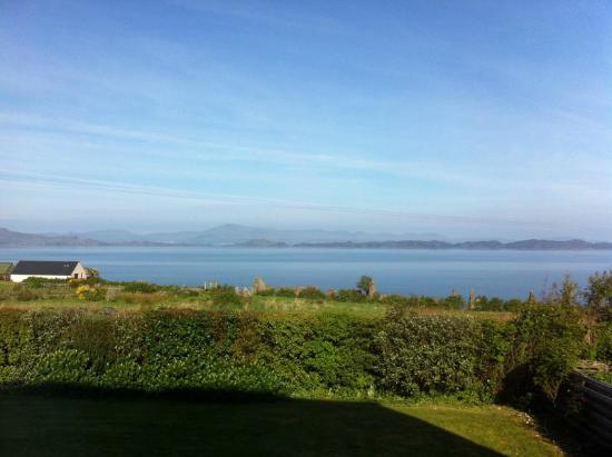 Tigh na mara: View from garden towards Raasay and Skye