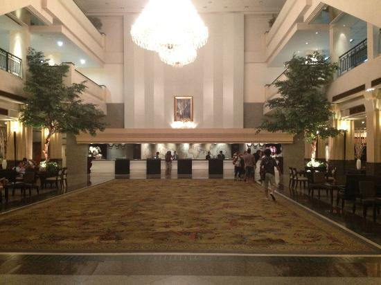 The Twin Towers Hotel: the lobby area