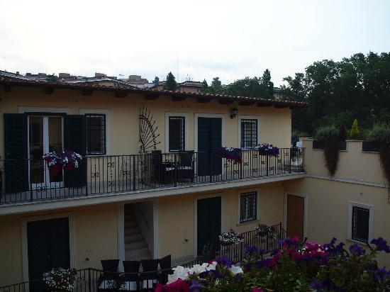 Aurelia Vatican Apartments: view from our room balcony