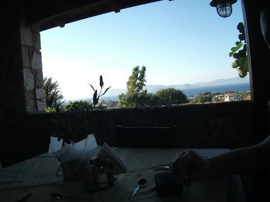 Aegean View Aqua Resort: View from restaurant
