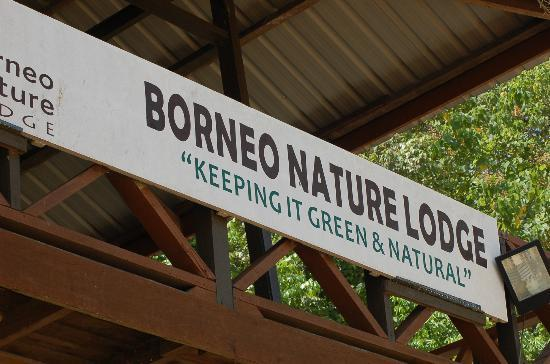 Borneo Nature Lodge: Sign at the BNL's Boat Dock