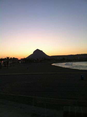 La Perla de Javea: Sunset on Montgo viewed from La Perla