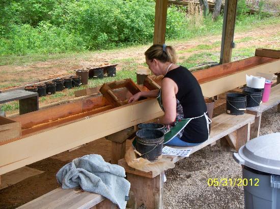 Murphy, NC: Kim Hunting Gems atWagonmaster Ranch