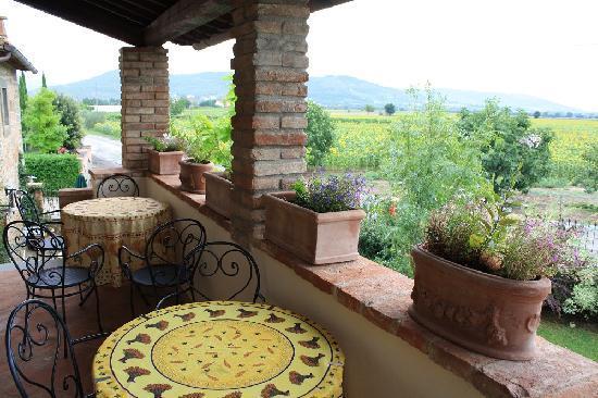 Villa Toscana La Mucchia: from the balcony