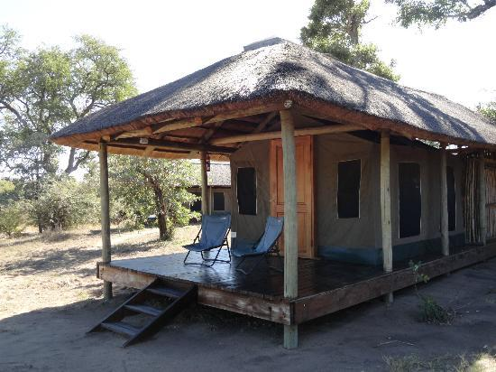 Shindzela Tented Safari Camp: Our tent near the water hole